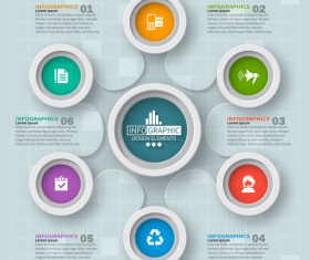 Creative cricles infographic vector template 01