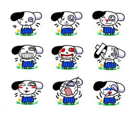 Cute Q version puppy expression vector
