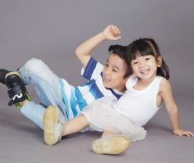 Cute brother and sister Stock Photo