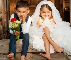 Cute childrens wedding photos Stock Photo