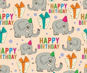 Cute elephant seamless pattern vectors