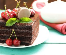 Delicious Black Forest Strawberry Cake Stock Photo 05