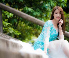 Demure dignified Asian girl Stock Photo