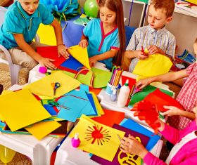 Doing handmade children Stock Photo 01