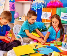 Doing handmade children Stock Photo 02