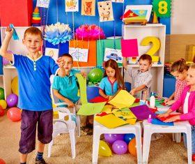 Doing handmade children Stock Photo 04