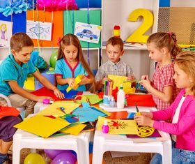 Doing handmade children Stock Photo 05