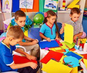 Doing handmade children Stock Photo 06