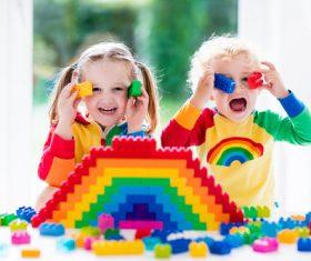 Doing handmade children Stock Photo 07