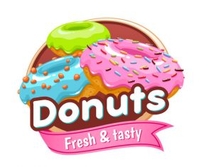 Donuts labels vectors 02