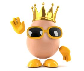 Egg crown cartoon vector