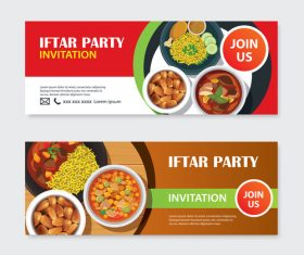 Eid mubarak invitation card template vector 03