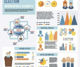 Election infographic template vector