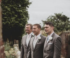 Elegant men in outdoor event Stock Photo