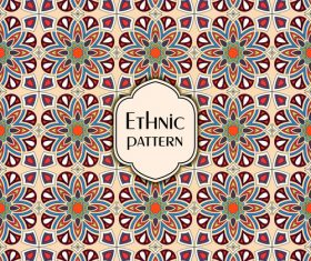 Ethnic seamless pattern template vector 01