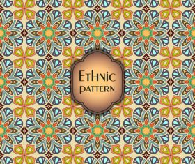 Ethnic seamless pattern template vector 02
