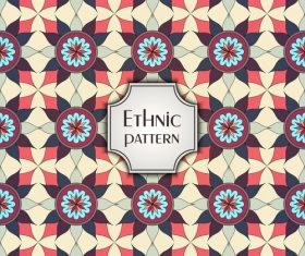 Ethnic seamless pattern template vector 03