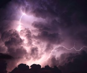 Ever changing lightning in the cumulonimbus cloud Stock Photo 04