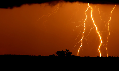 Ever changing lightning in the cumulonimbus cloud Stock Photo 05