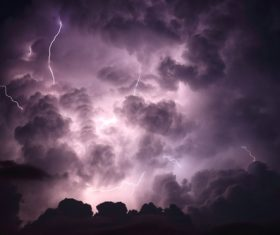 Ever changing lightning in the cumulonimbus cloud Stock Photo 13