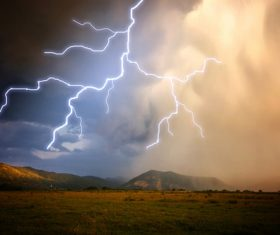 Ever changing lightning in the cumulonimbus cloud Stock Photo 14