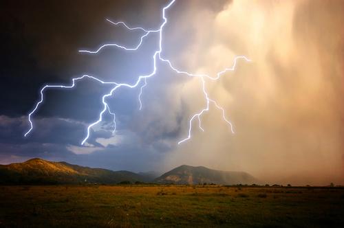 Ever changing lightning in the cumulonimbus cloud Stock ...