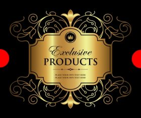 Exclusive vintage gold ornamental label vector 06