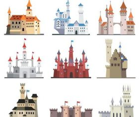 Fairy tale castle illustration vector 01