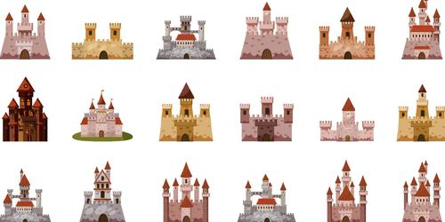 Fairy tale castle illustration vector 02