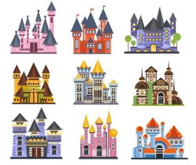 Fairy tale castle illustration vector 03