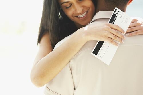 Farewell hug Stock Photo