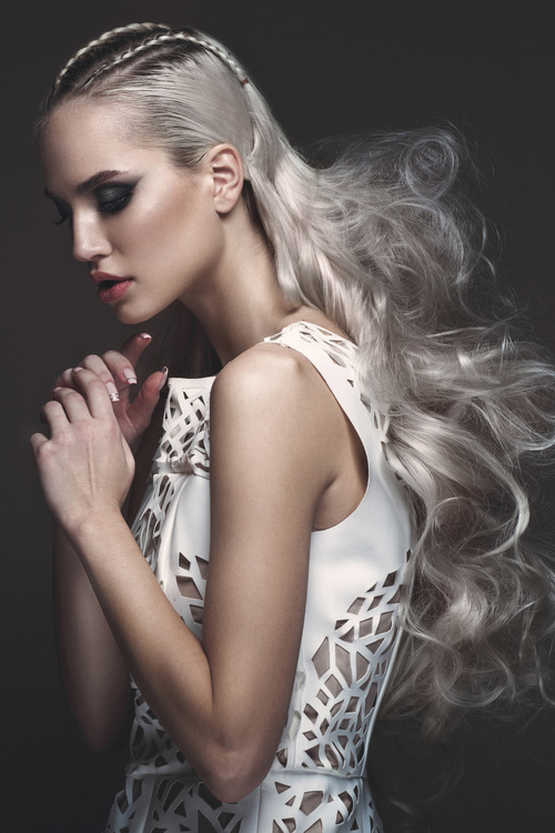 Fashion glamour girl with avant garde hairstyle Stock Photo 03 free ...