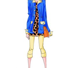 Fashion illustration character vector