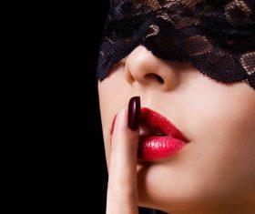 Female lips closeup Stock Photo 07
