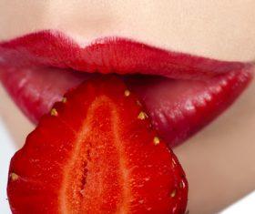 Female lips closeup Stock Photo 10