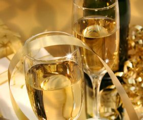 Festive wedding champagne Stock Photo