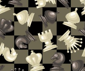 Figure chess seamless pattern vector