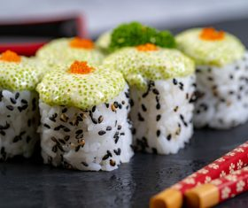 Fish roe sushi Stock Photo
