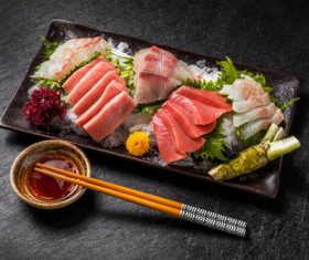 Fish sashimi platter Stock Photo