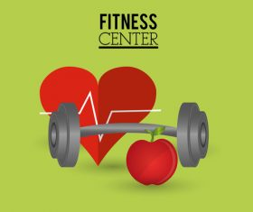 Fitness center sign design vectors 03