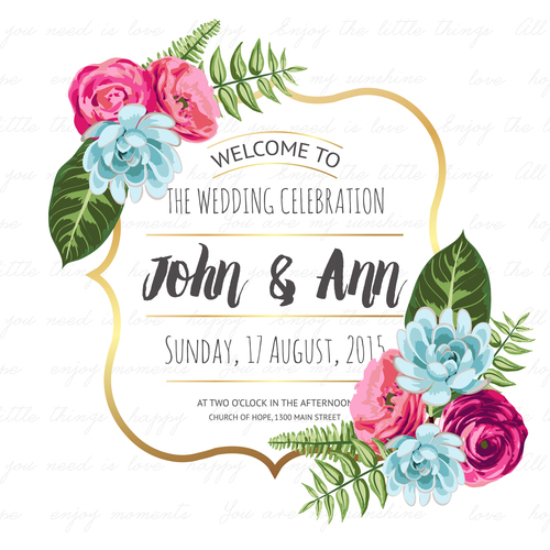 Flower frame with wedding invitation vector free download flower frame with wedding invitation vector stopboris Gallery