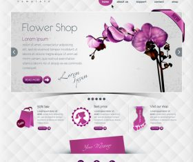 Flower shop website vector template