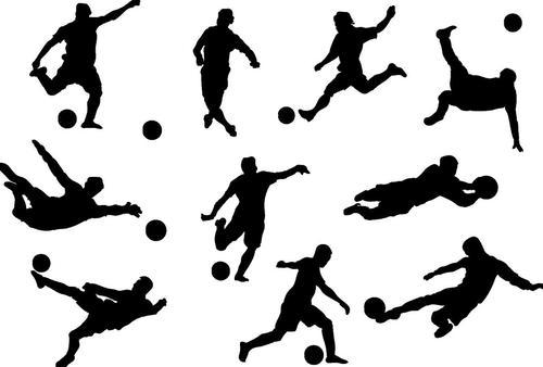 Football silhouette vector design 02