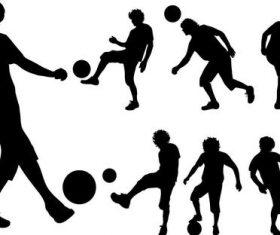 Football silhouette vector design 03