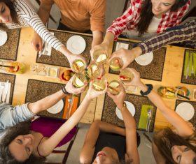 Friends having a toast Stock Photo 01