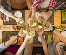 Friends having a toast Stock Photo 03