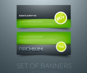 Gift vouchers green template vector 05