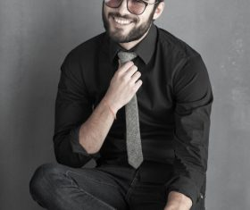 Glamour male smile Stock Photo 04