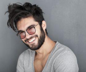 Glamour male smile Stock Photo 07