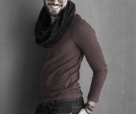Glamour male smile Stock Photo 08